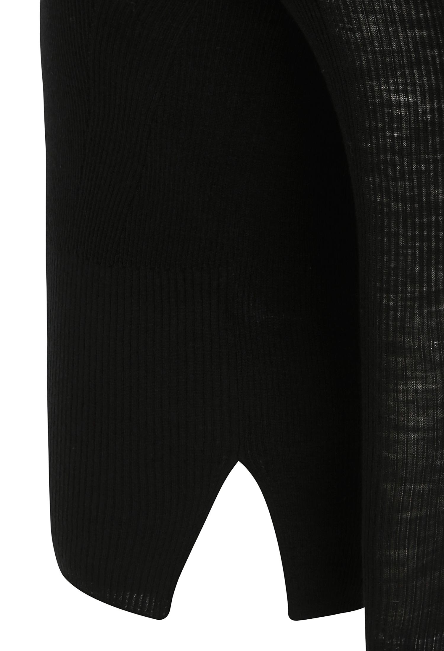 시스루 배색 울 풀오버 니트 (BLACK)