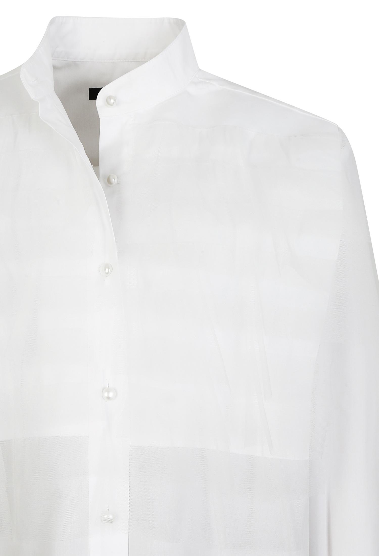 쉬폰 레이어링 블라우스 (WHITE)