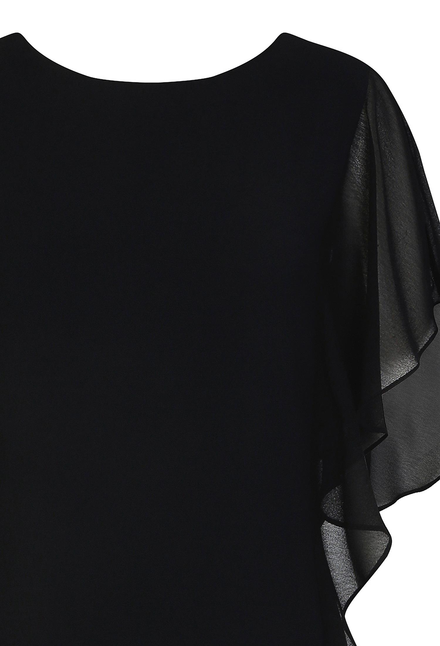 쉬폰 플레어 소매 원피스 (BLACK)