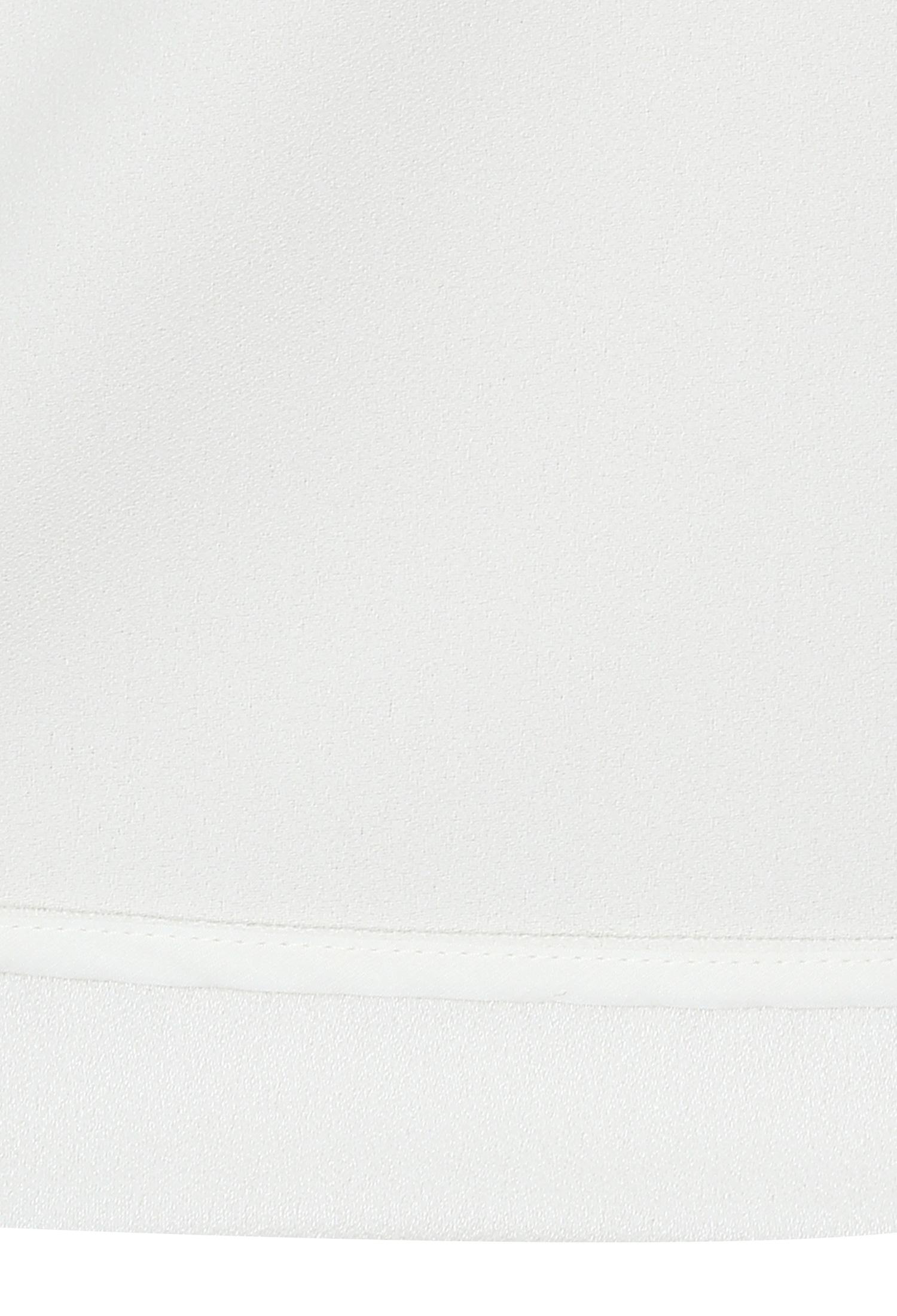 슬릿넥 깃털 장식 블라우스 (IVORY)