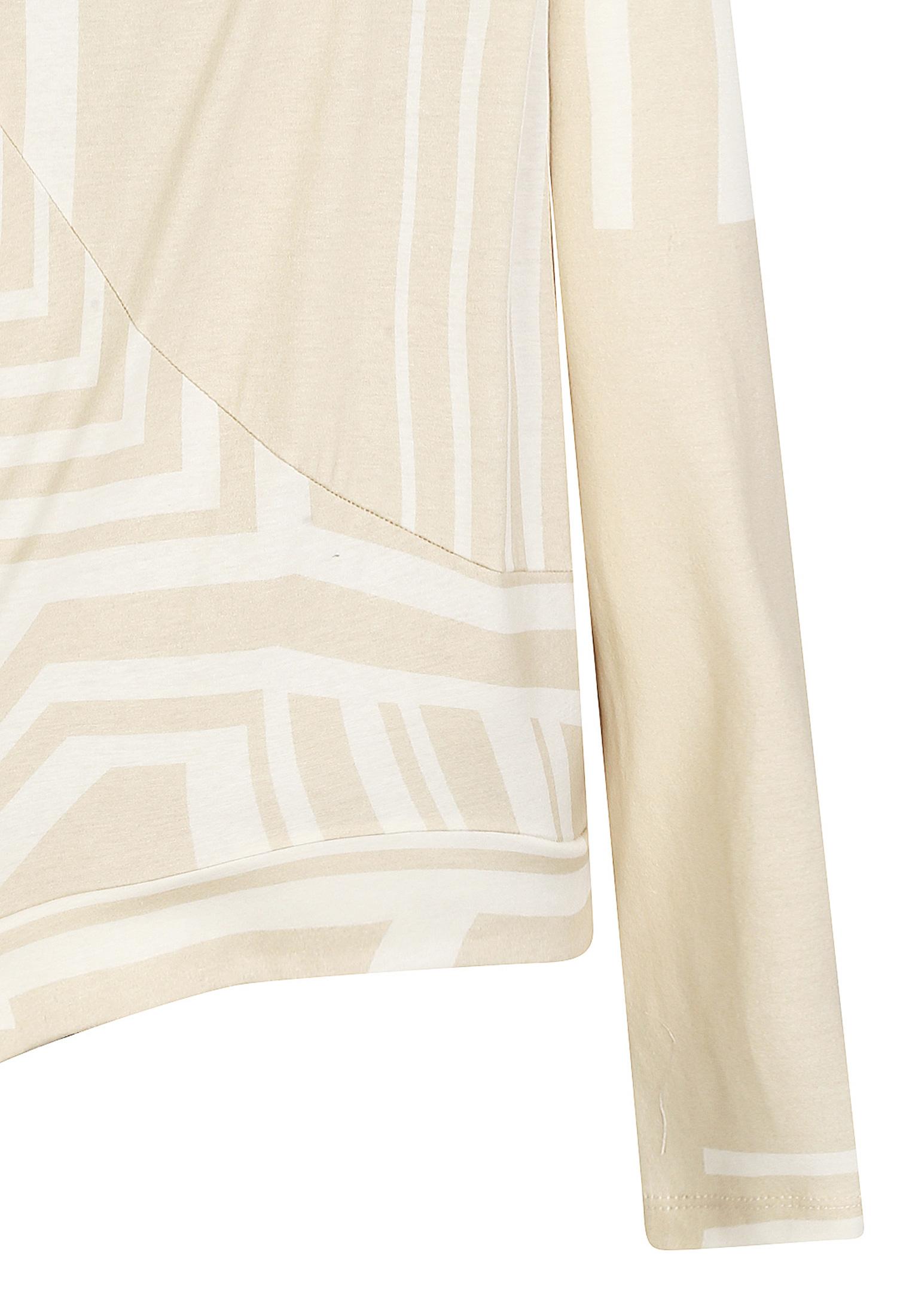 패턴 프린팅 언발란스 티셔츠 (BEIGE)