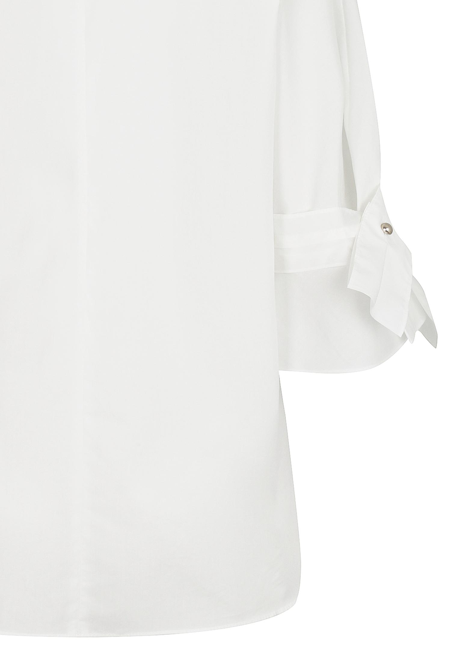 소매 디테일 레이스 칼라 블라우스 (WHITE)