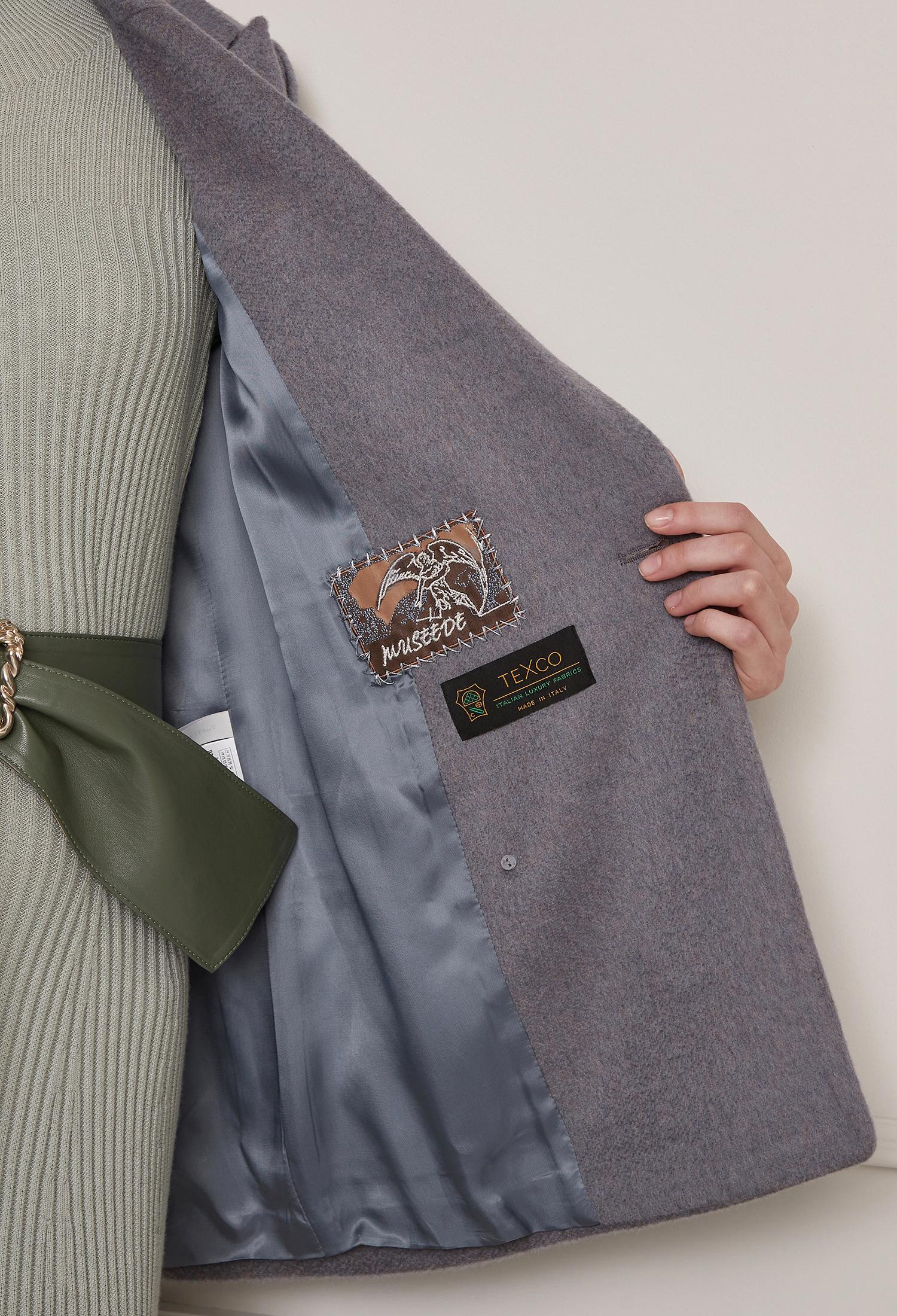 울 캐시미어 싱글 버튼 자켓 (BLUE)