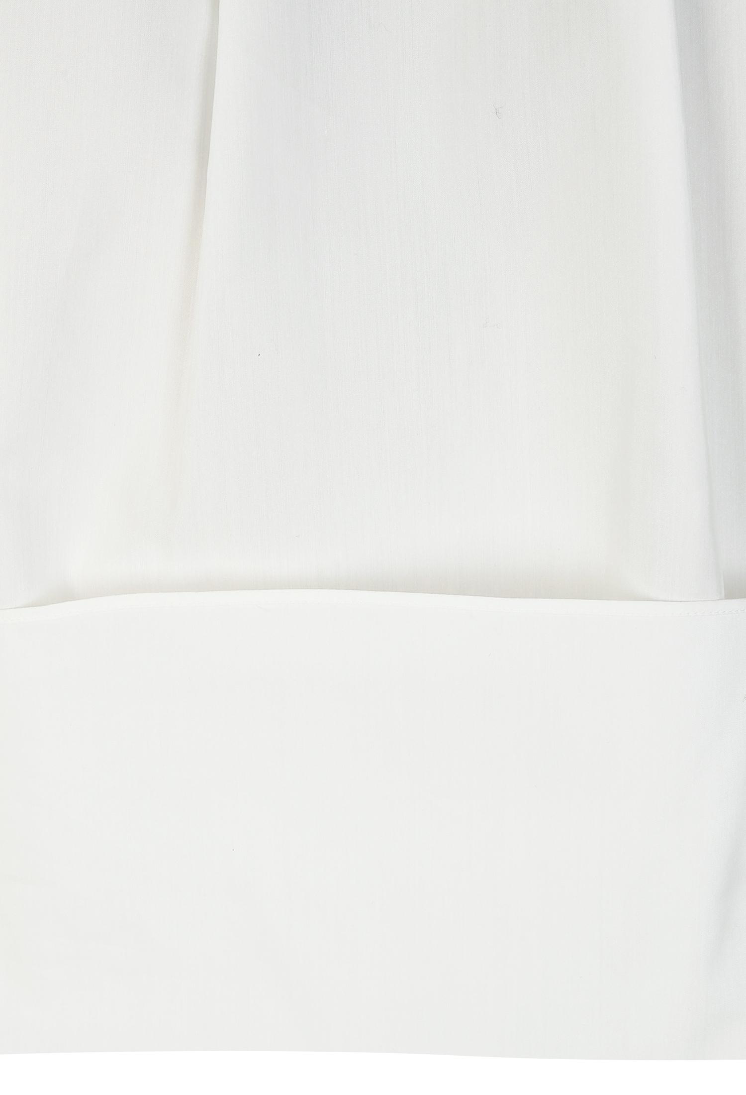 러플 디테일 펄버튼 블라우스 (WHITE)