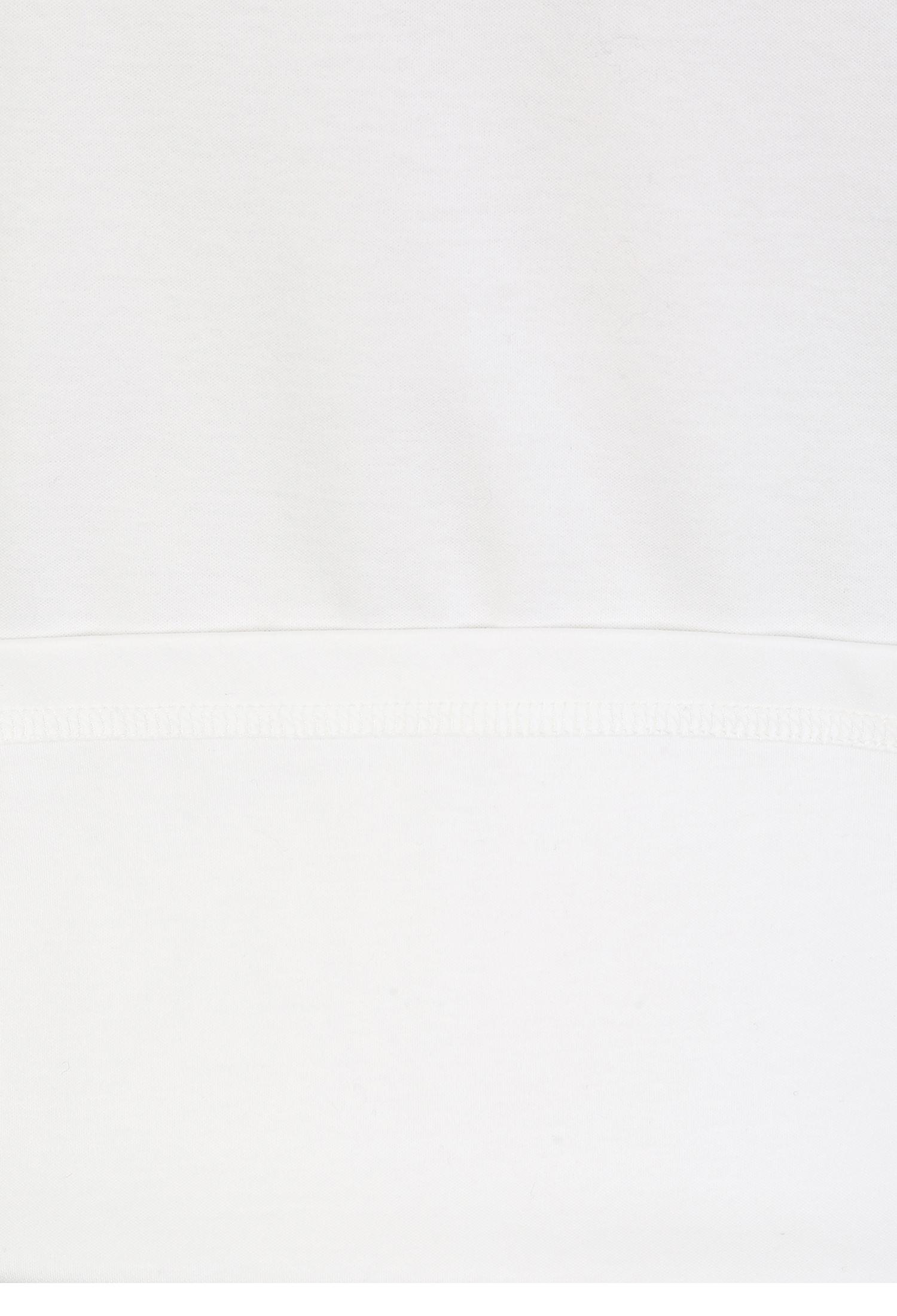 코튼 금장 장식 라운드 티셔츠 (WHITE)