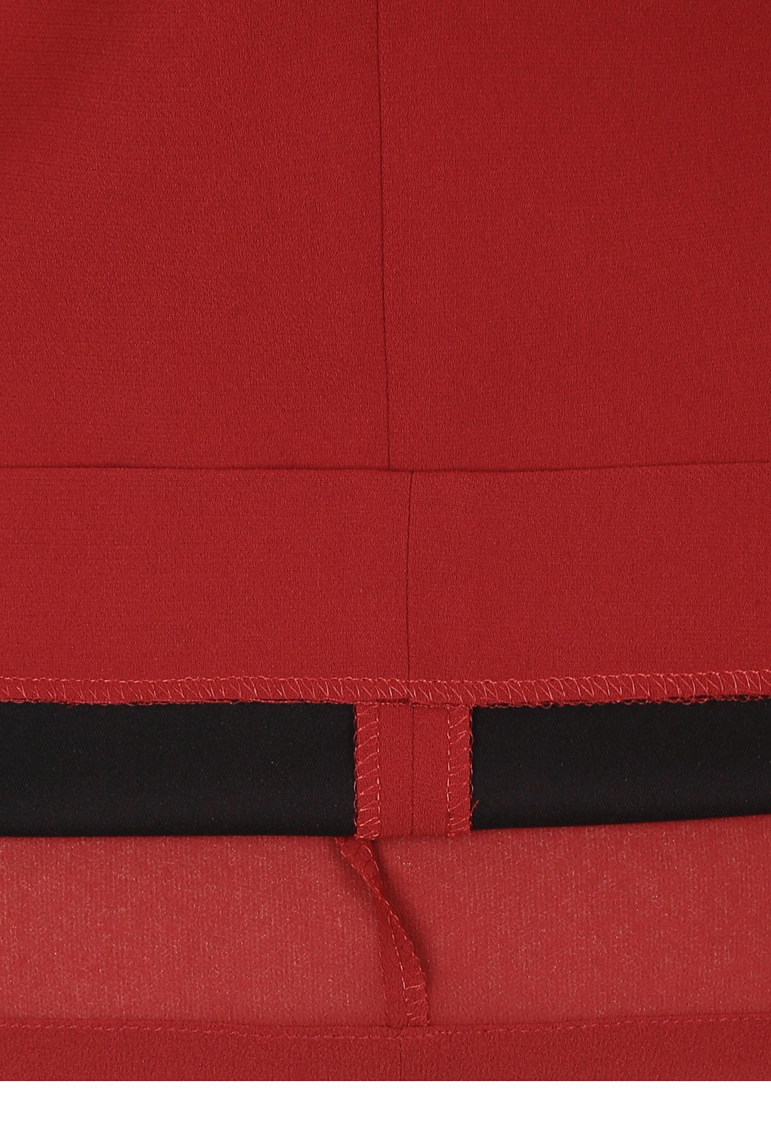 버튼 장식 H라인 슬릿 스커트 (RED)