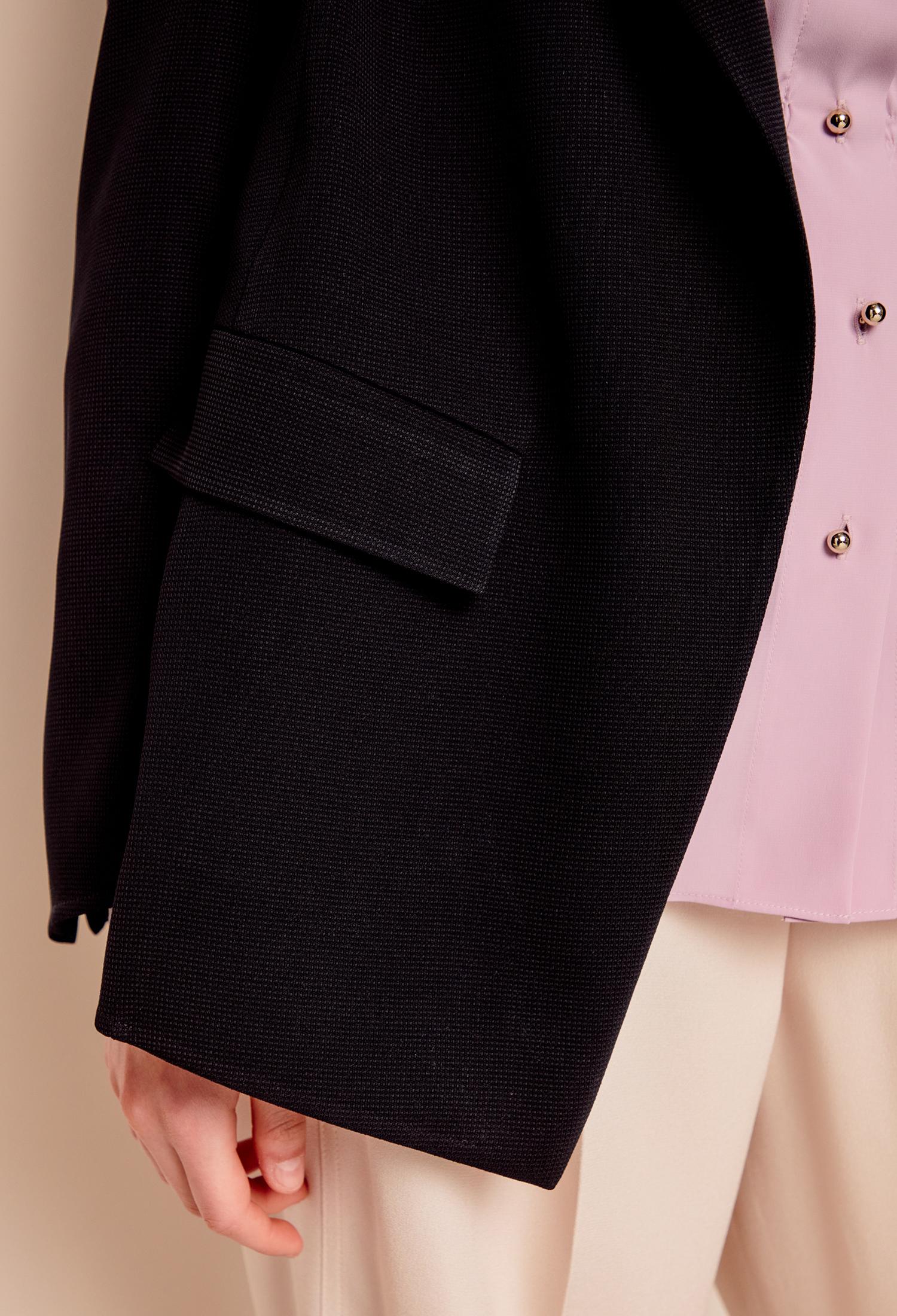버튼리스 테일러드 재킷 (BLACK)