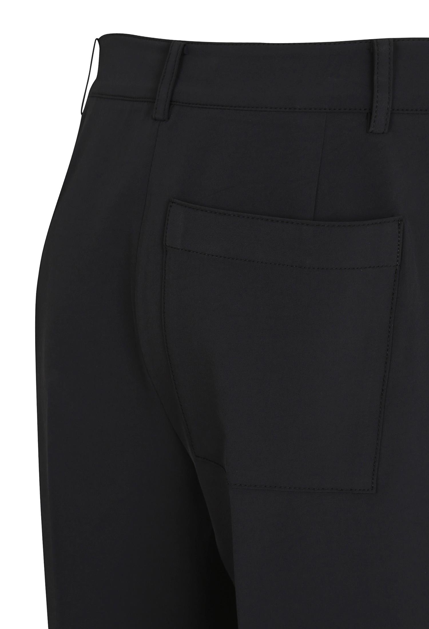스판 혼방 백 포켓 팬츠 (BLACK)