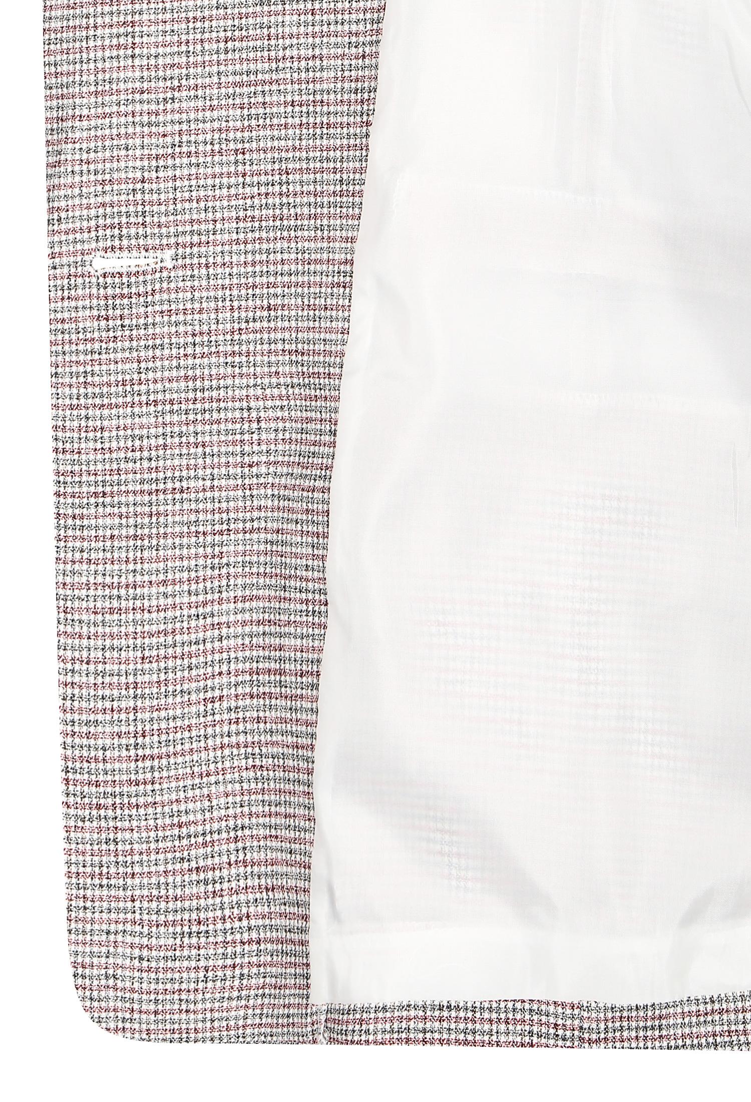 린넨 체크 롤업 자켓 (RED)
