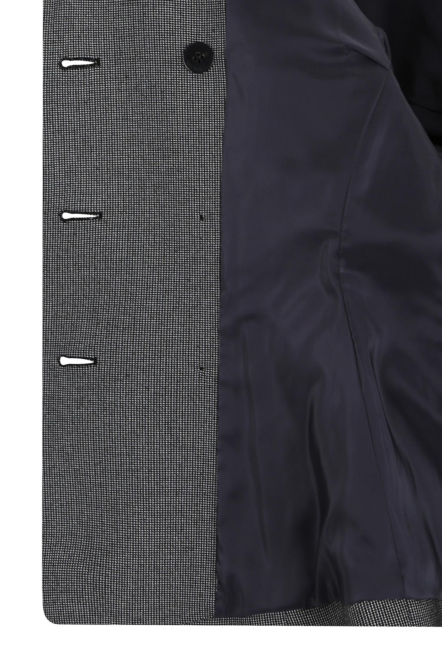 슬림핏 잔체크 롤업 자켓 (BLACK)