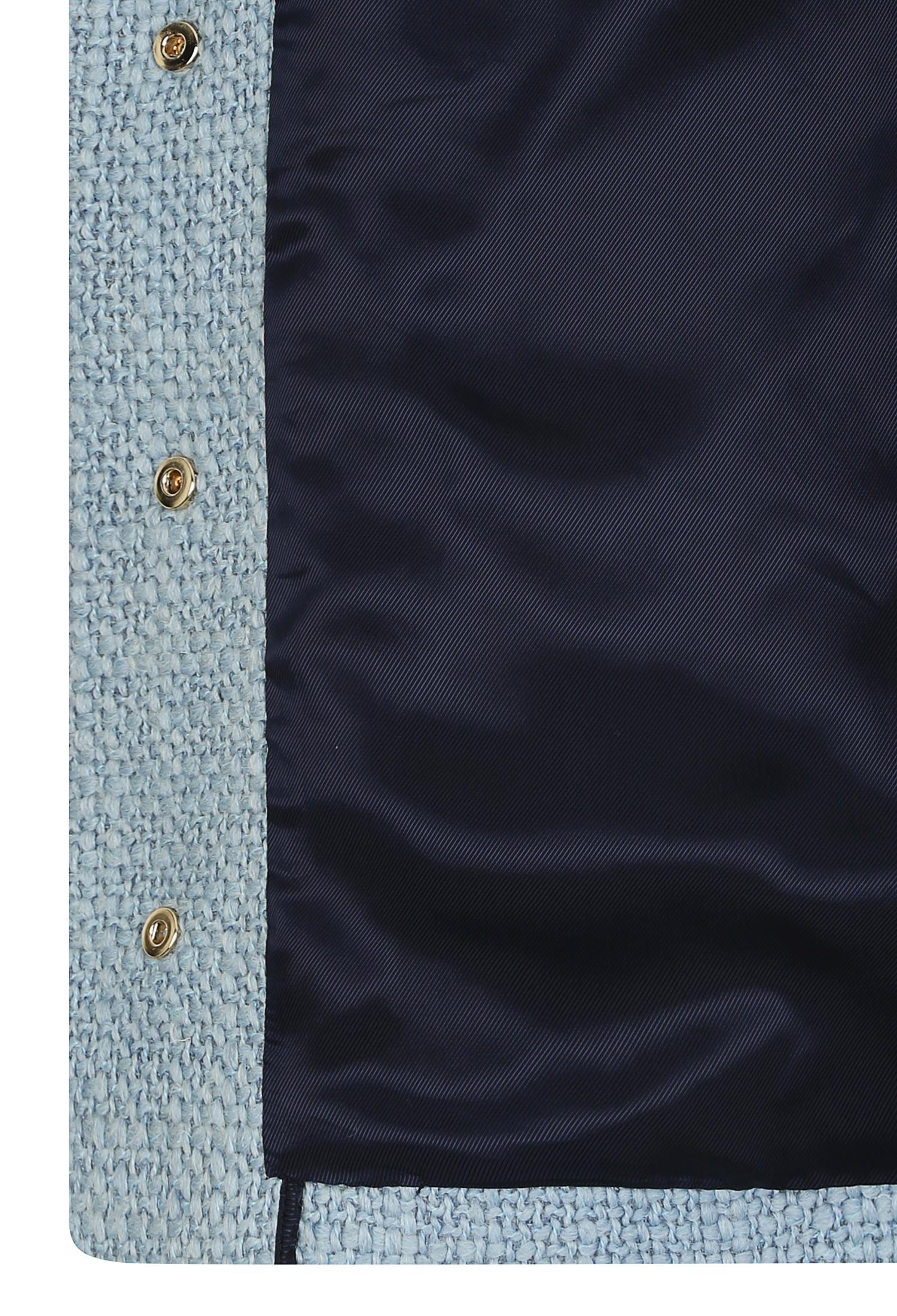 울혼방 버튼 장식 싱글 자켓 (BLUE)