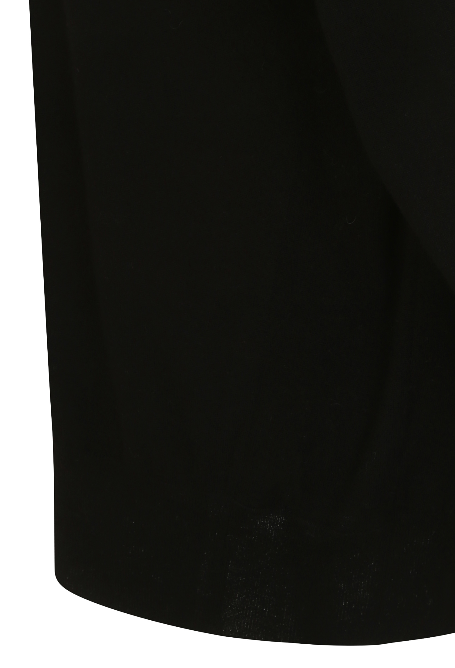 울 캐시미어 셔링 디테일 풀오버 니트 (BLACK)