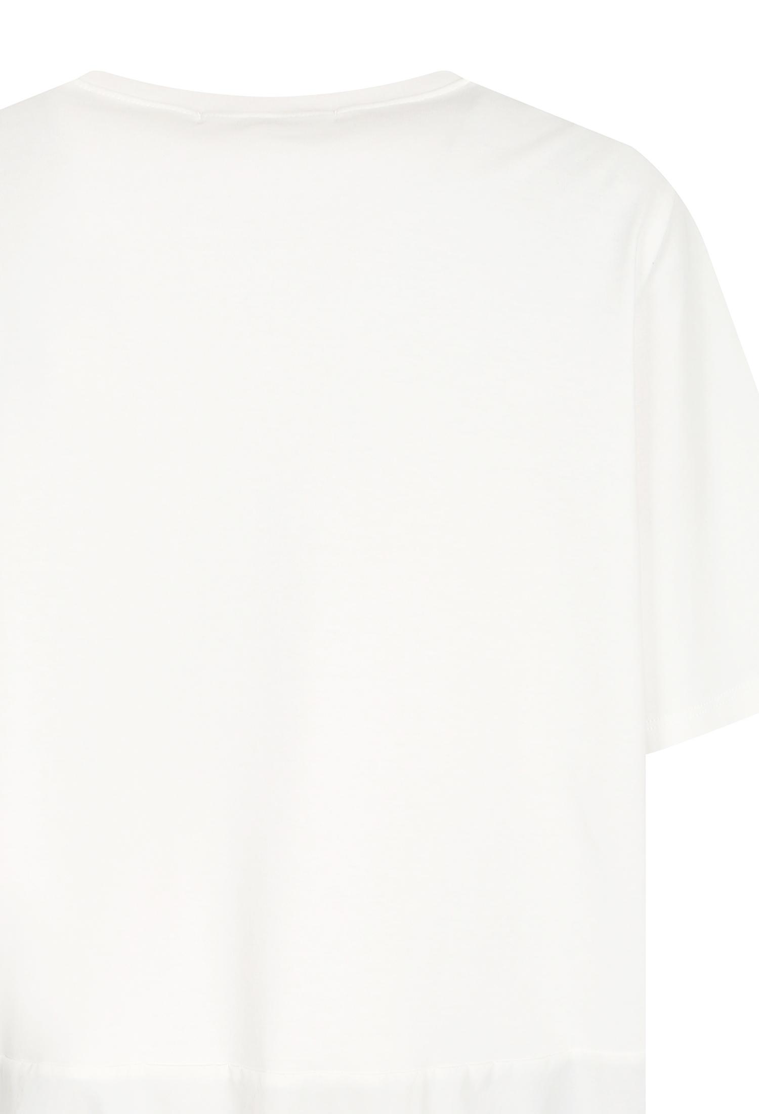 배색 스트링 프레임 티셔츠 (WHITE)