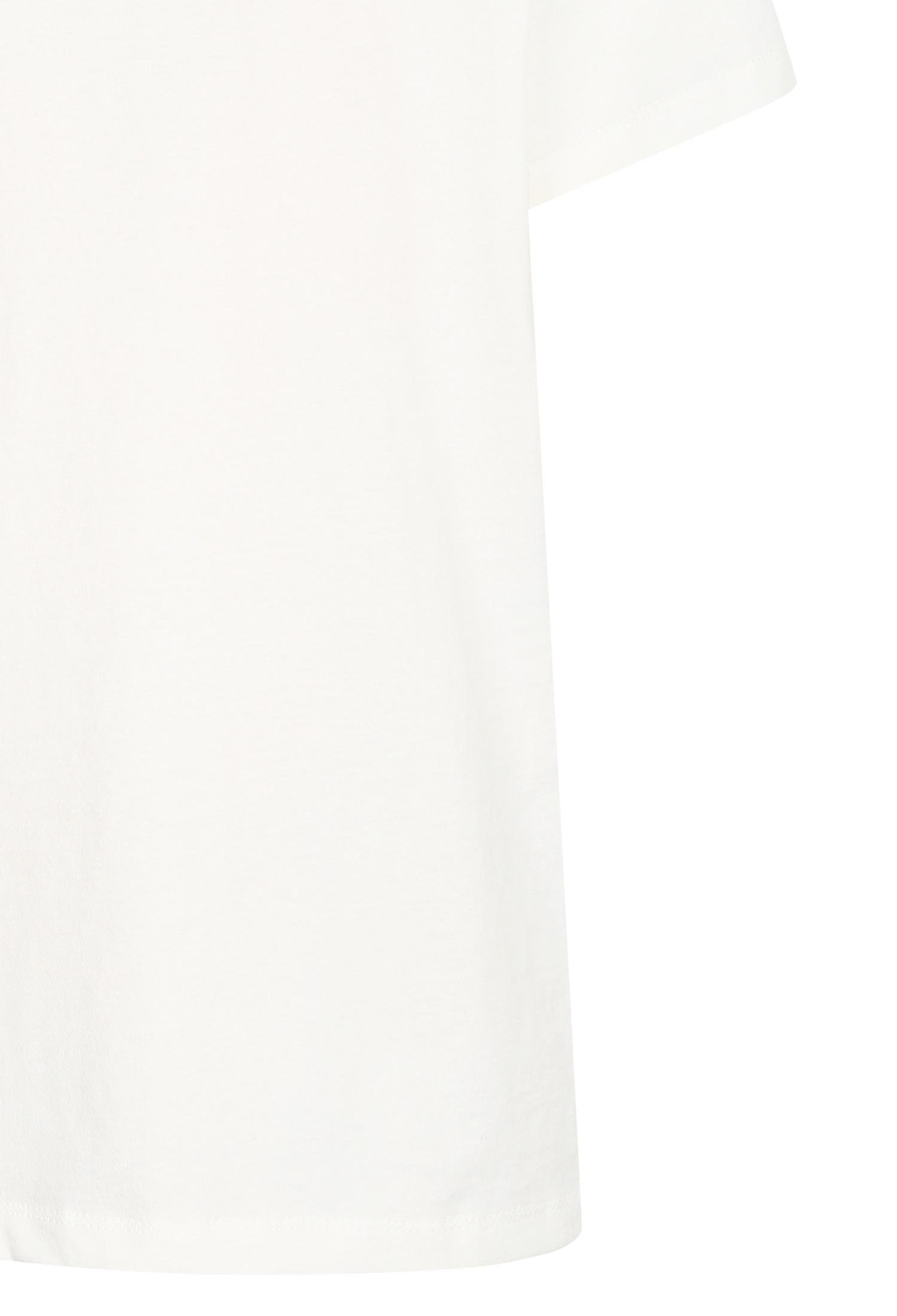 자수 포인트 프린트 패치 티셔츠 (IVORY)
