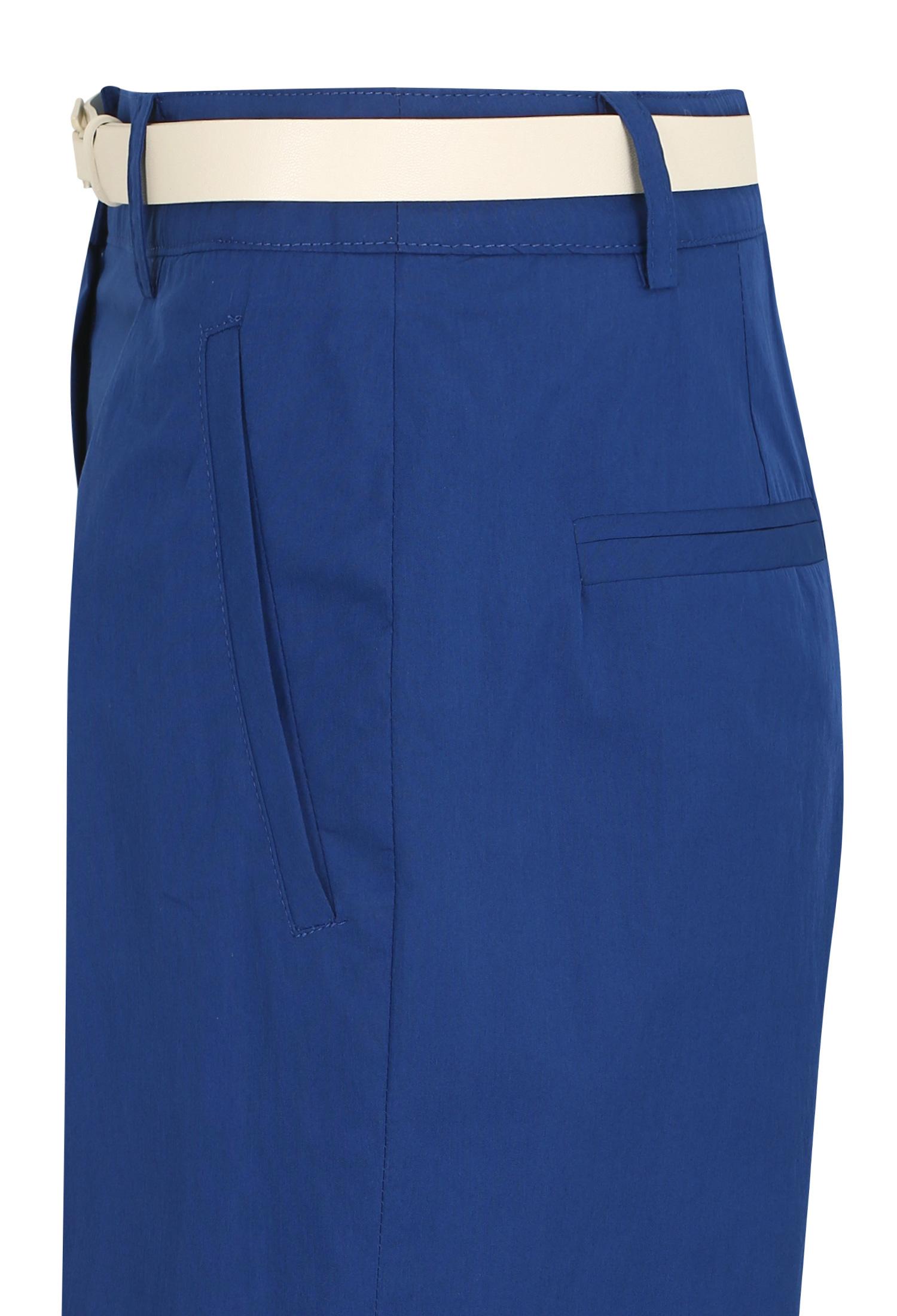 핀턱 스티치 숏 팬츠 (BLUE)