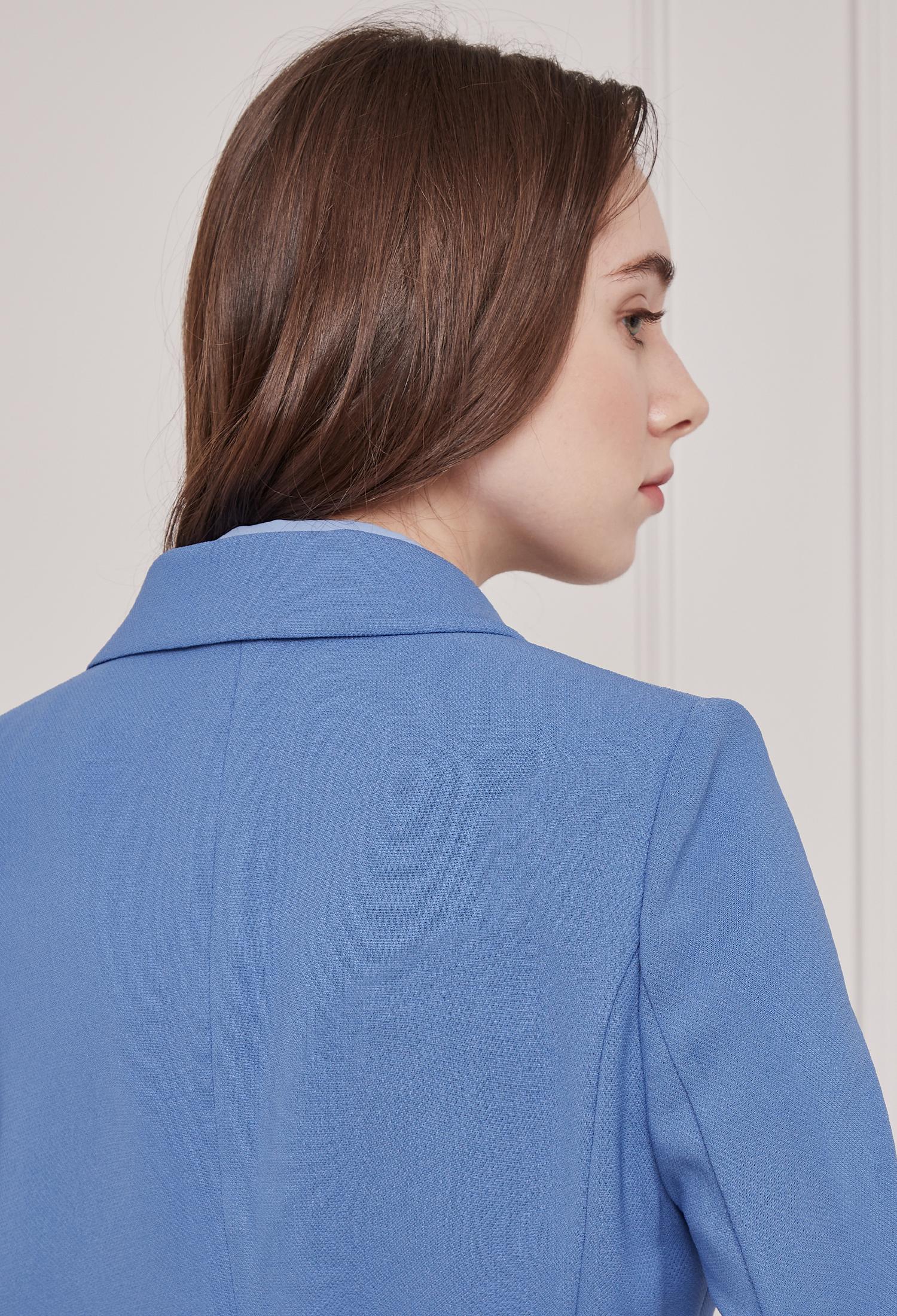 벨티드 베이직 싱글 재킷 (BLUE)