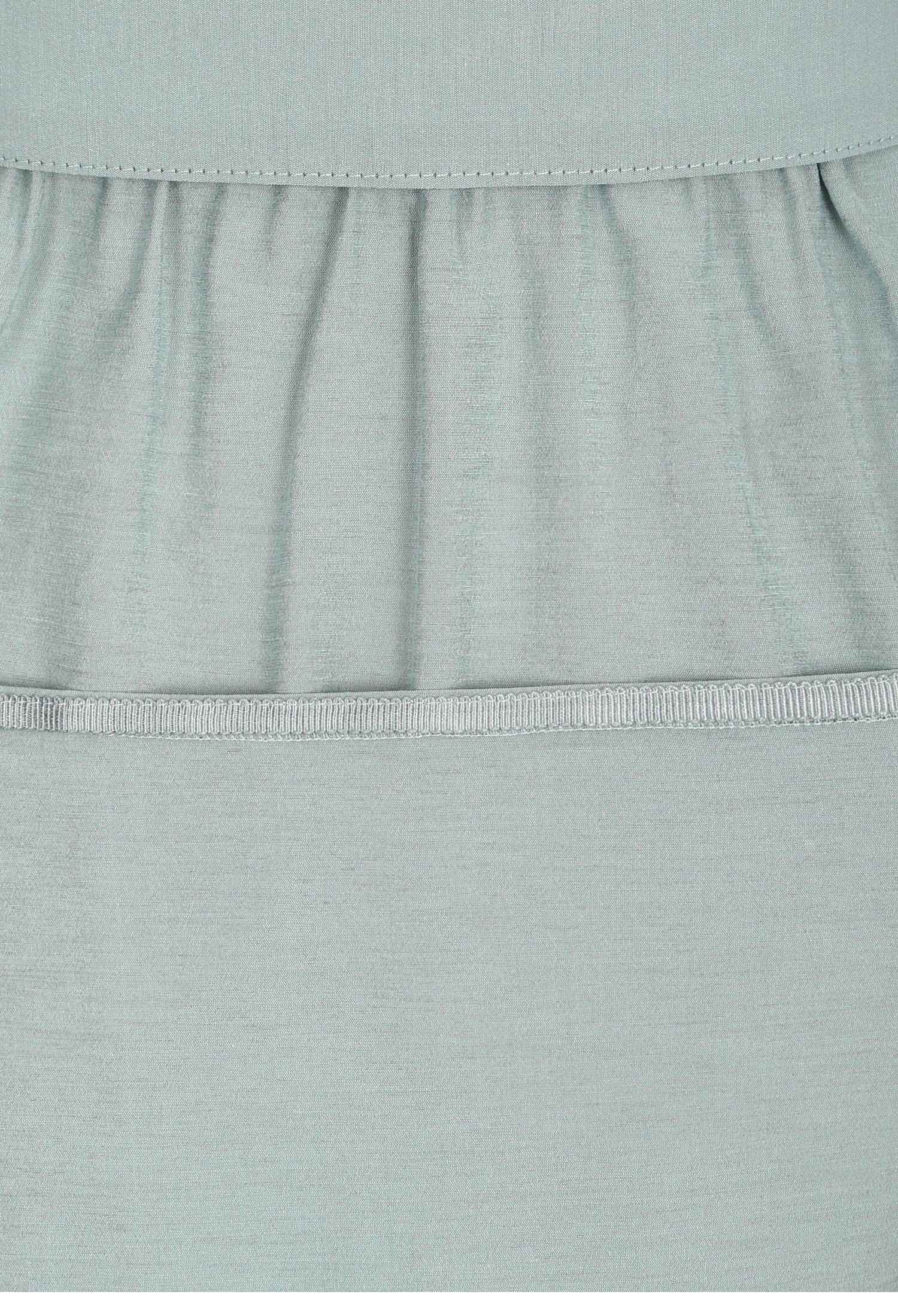 소매 디테일 백 밴딩 셔츠 원피스 (MINT)