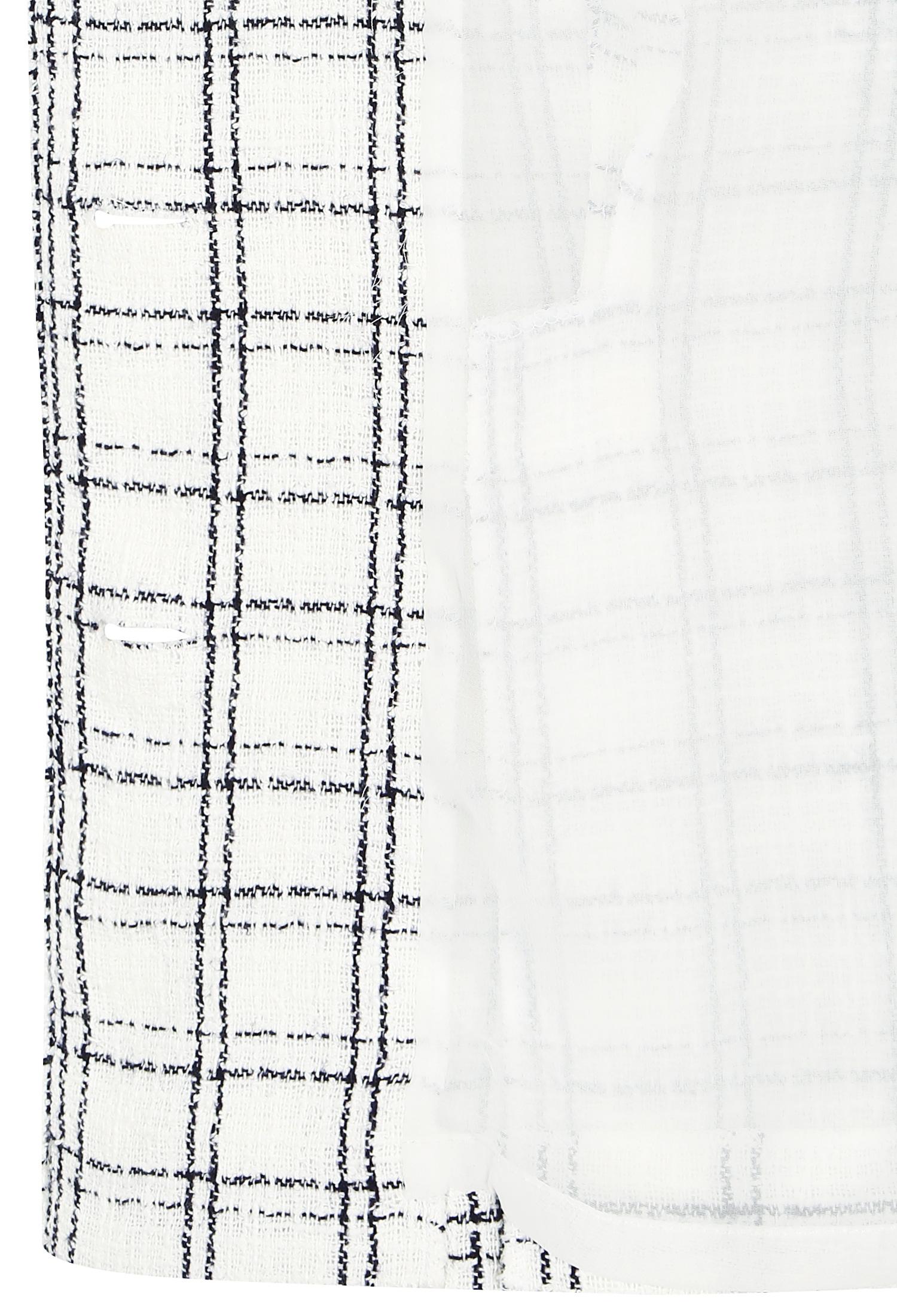 하프 슬리브 브레이드 체크 자켓 (WHITE)