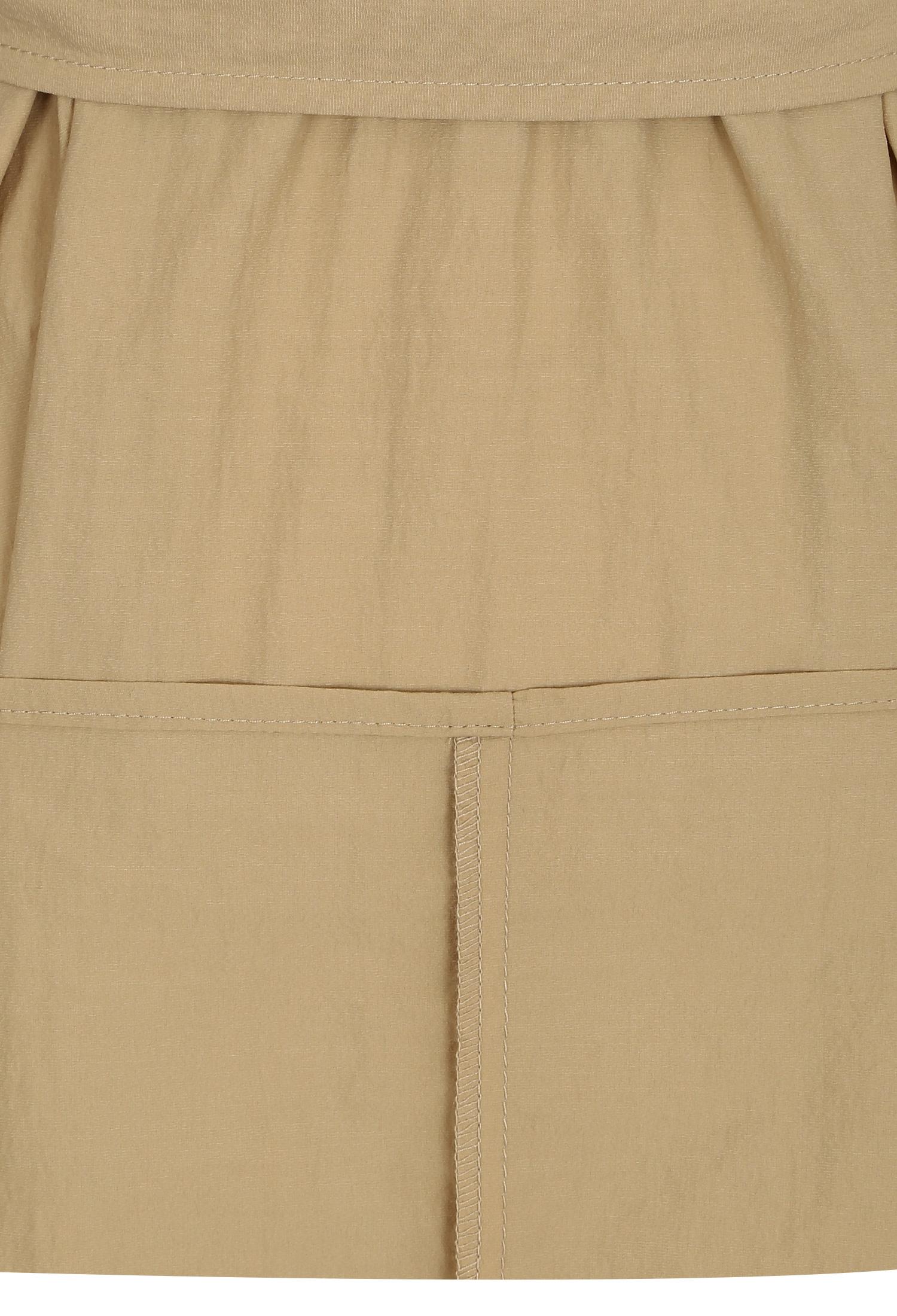 백 밴딩 패널 셔츠 원피스 (BEIGE)