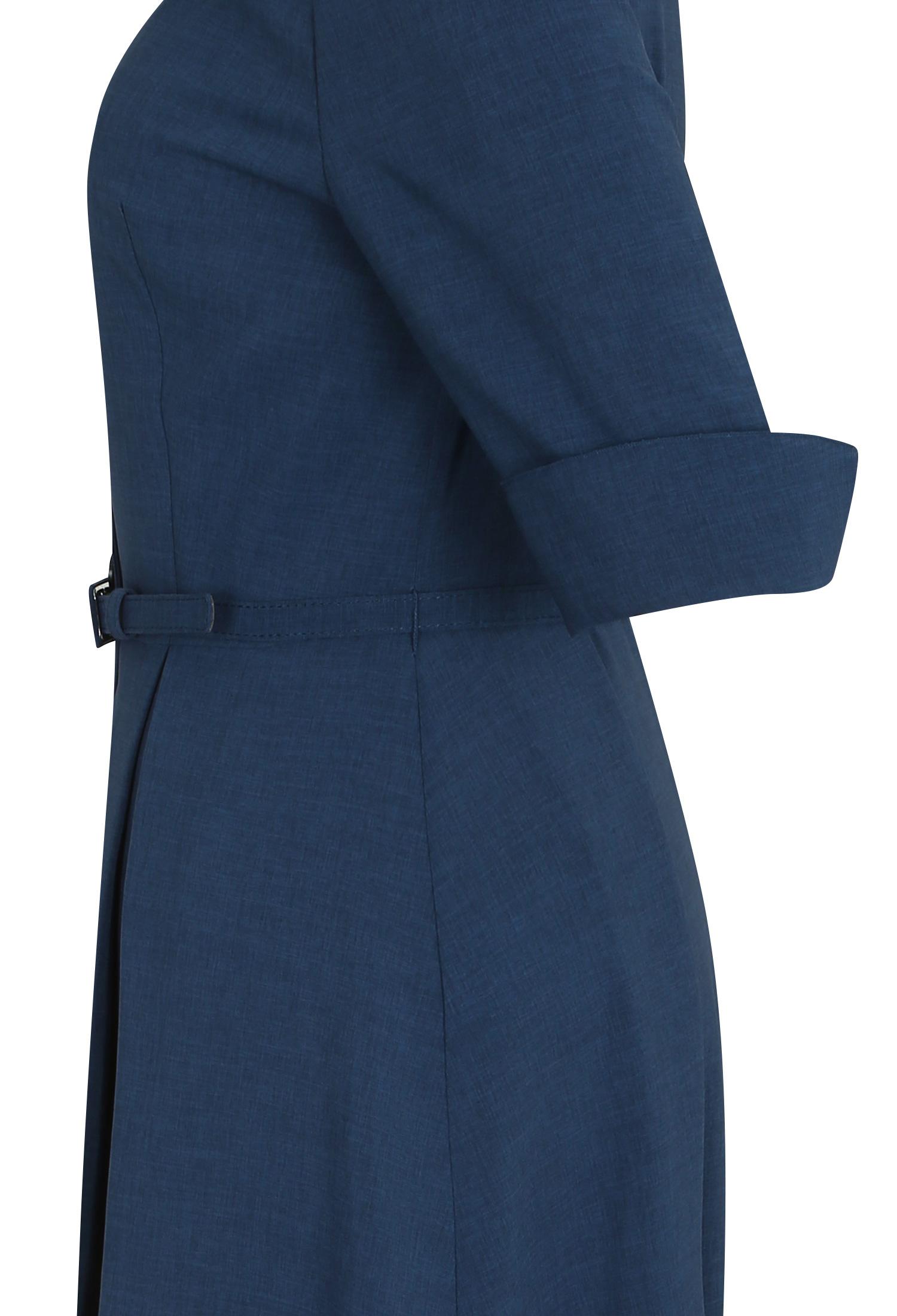 핀턱 디테일 슬릿 칼라 원피스 (BLUE)