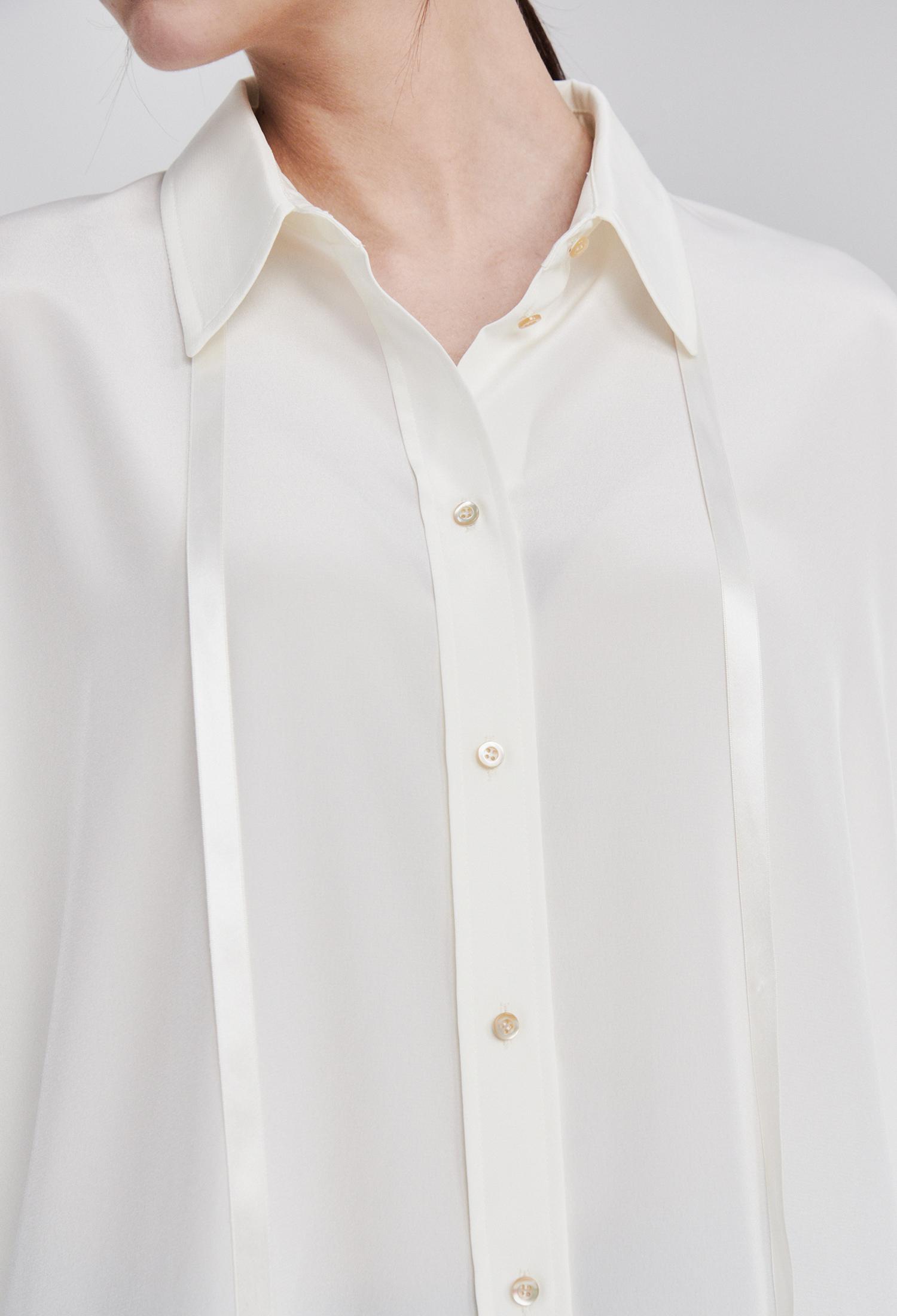스트랩 오버 셔츠 블라우스 (WHITE)