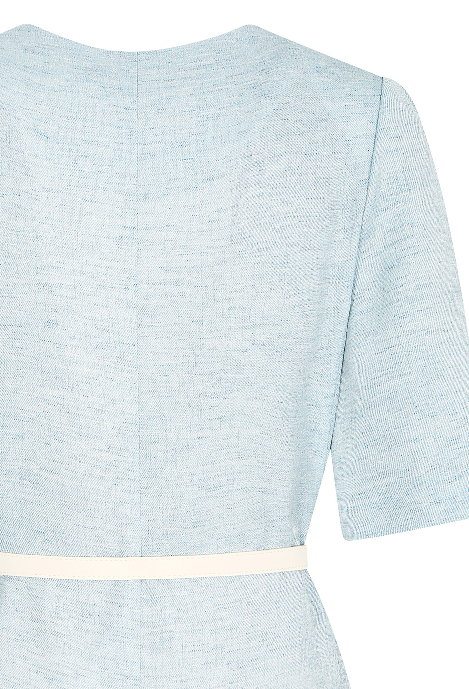 플랩 장식 하프 슬리브 자켓 (BLUE)