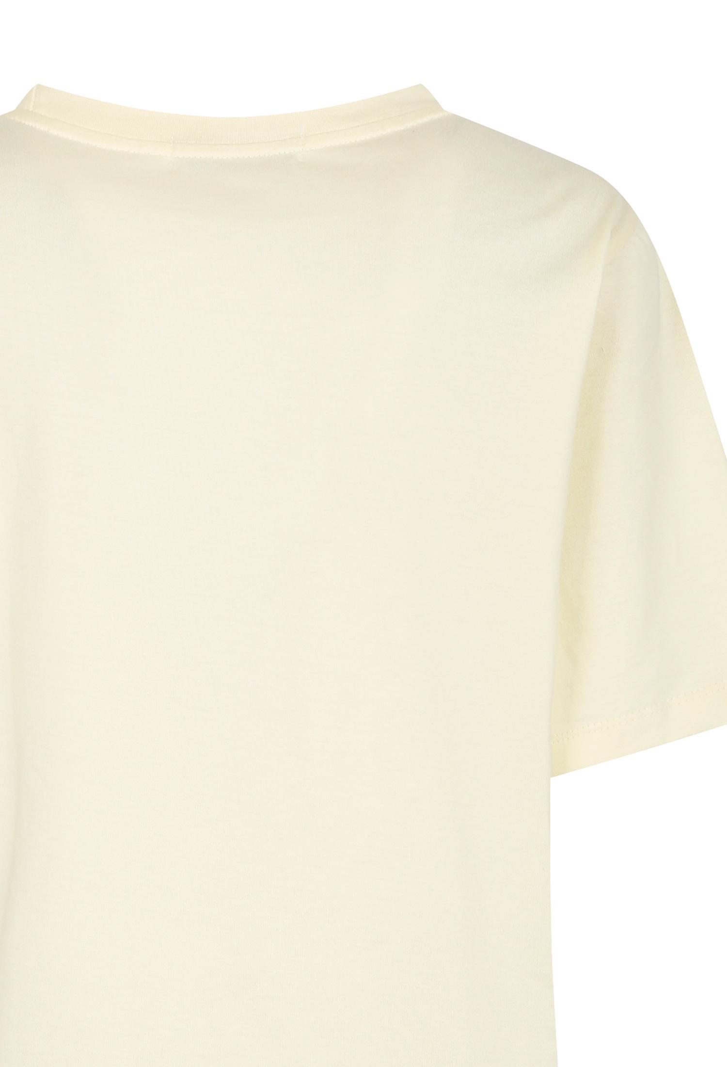 브레이드 장식 레터링 티셔츠 (CREAM)