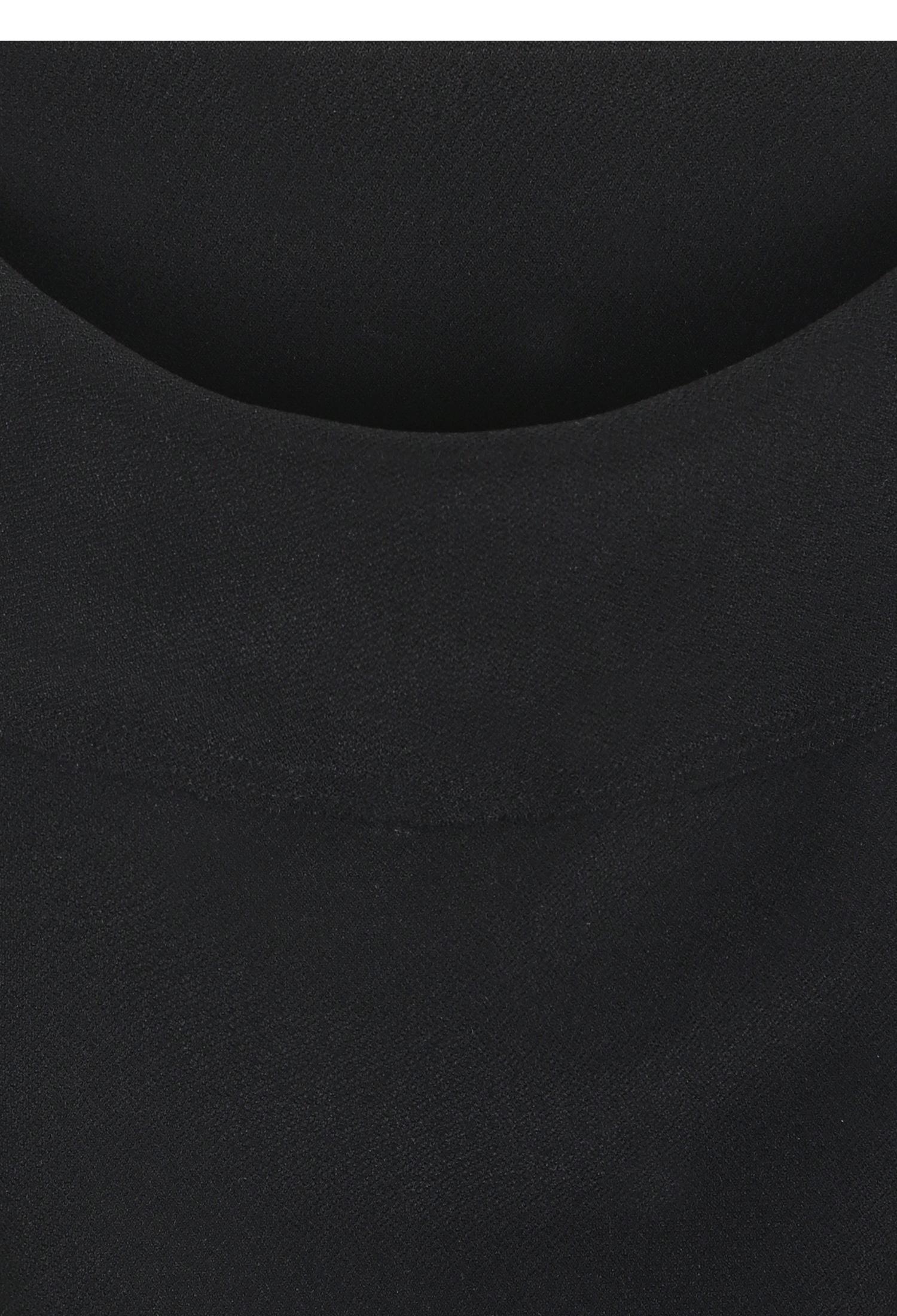슬릿 레터링 배색 밴딩 스커트 (BLACK)