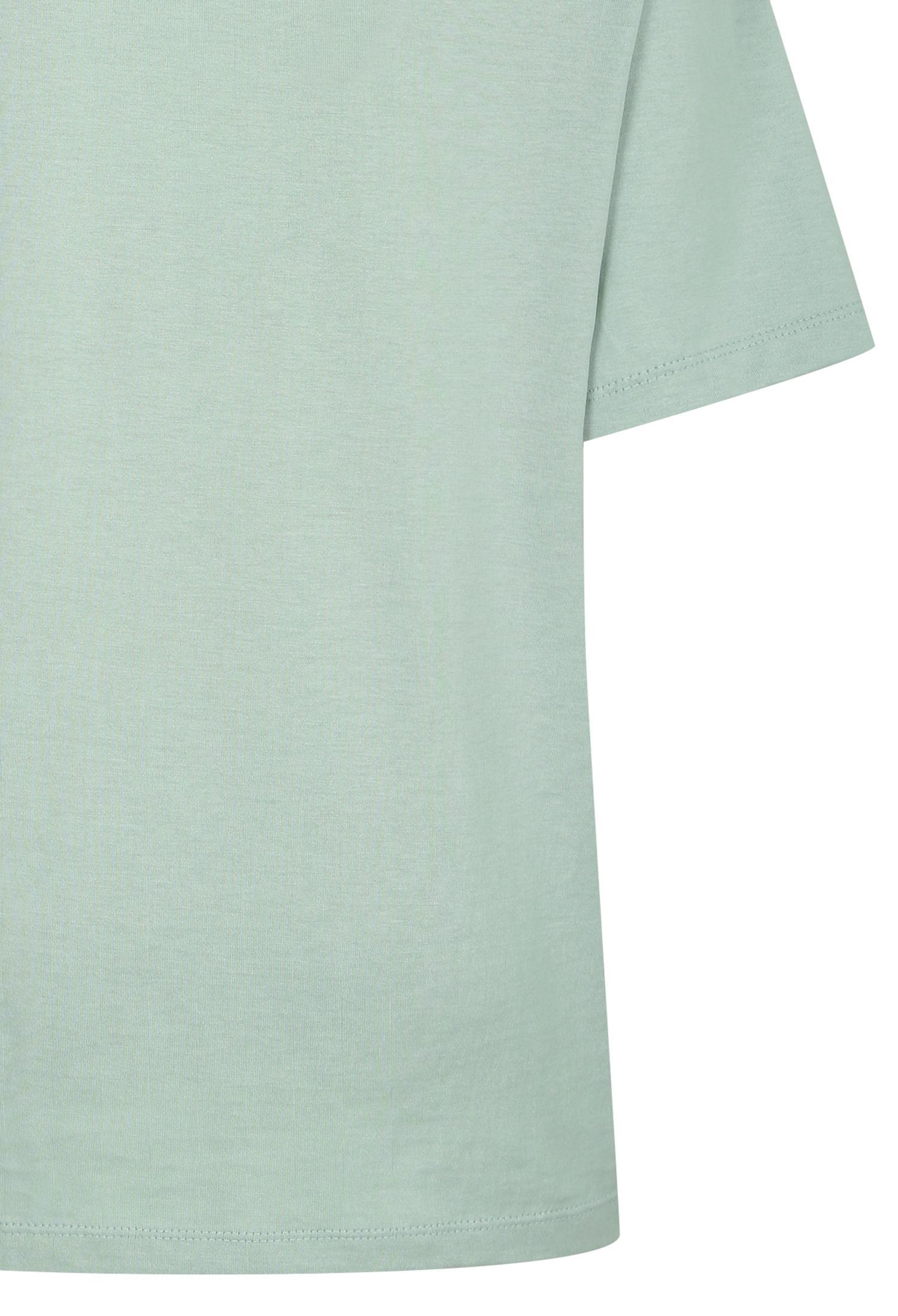 브레이드 장식 레터링 티셔츠 (MINT)