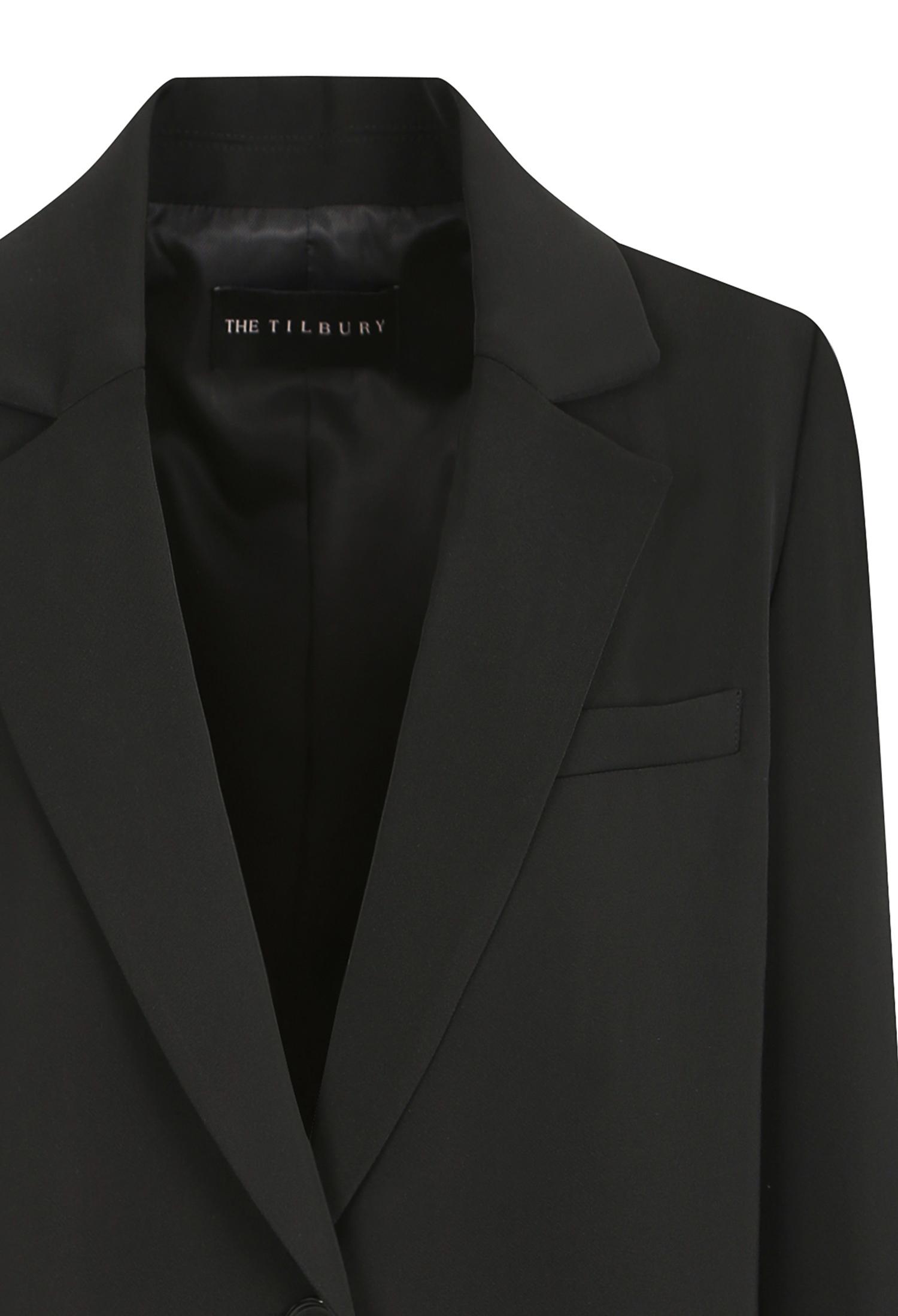레터링 배색 롤업 재킷 (BLACK)