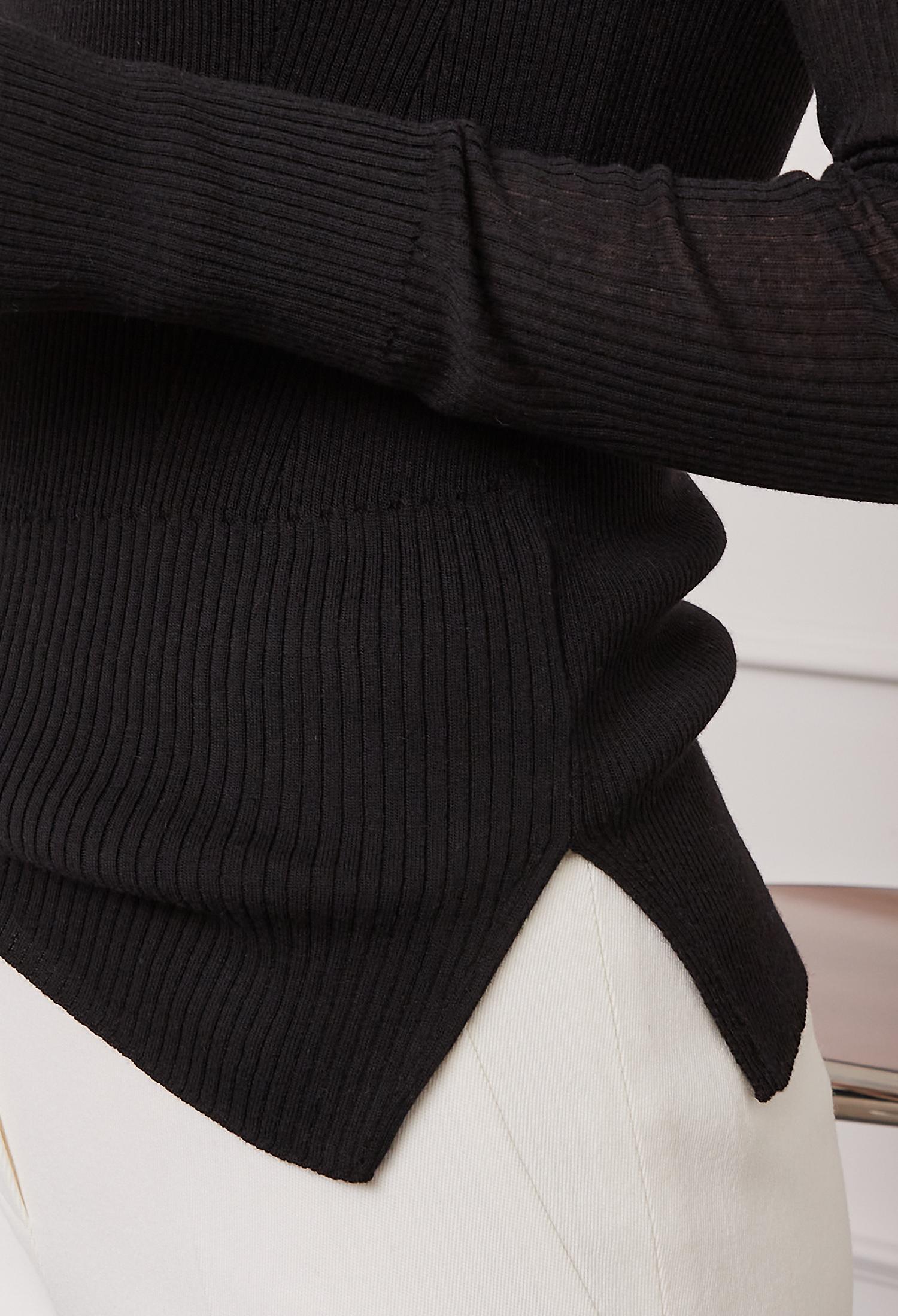 울 블렌드 하이넥 풀오버 니트 (BLACK)