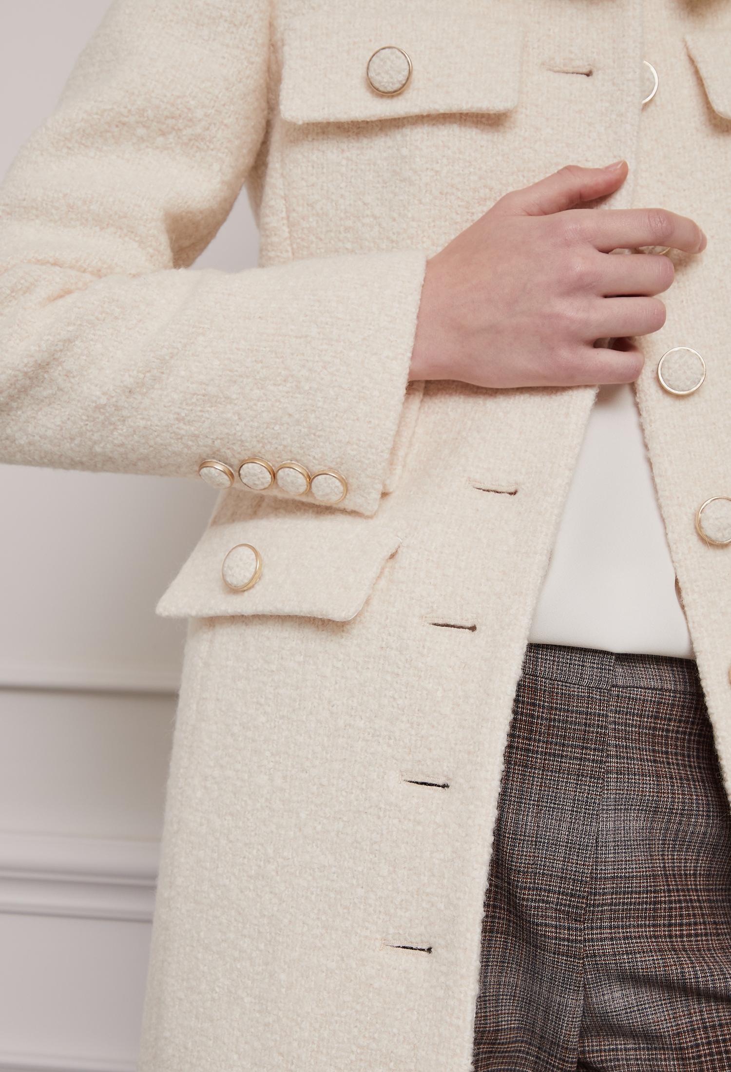 앙고라 블렌드 트위드 재킷 (IVORY)