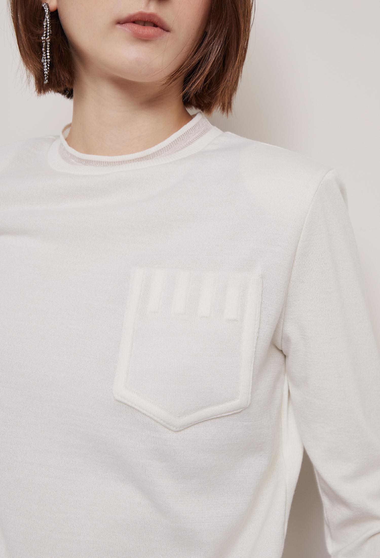 울 블렌드 포켓 스웨트셔츠 (IVORY)