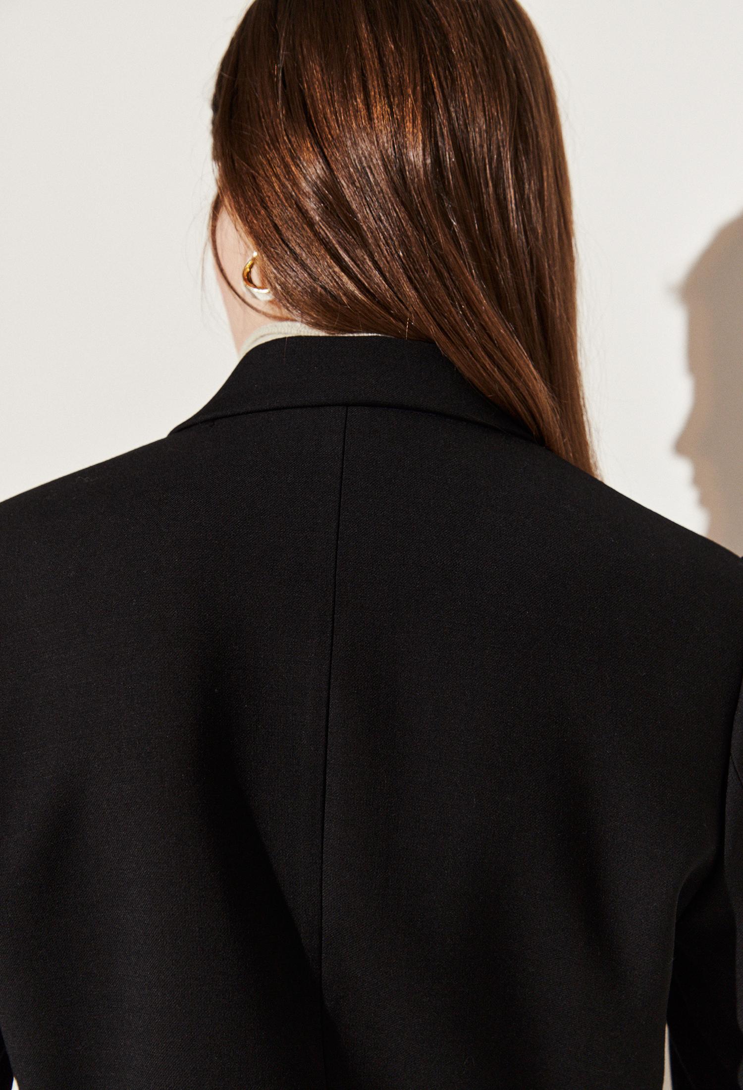 울 블렌드 싱글 브레스티드 재킷 (BLACK)